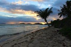 Восход солнца на Culebra в испанских Виргинских островах стоковые фото