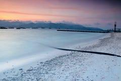 Восход солнца на Gili Trawangan стоковые фотографии rf