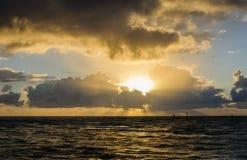 Восход солнца на ` Kapa пляж парк на городке ` a Kapa на Кауаи, Гаваи Стоковое Изображение RF