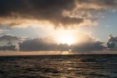 Восход солнца на ` Kapa пляж парк на городке ` a Kapa на Кауаи, Гаваи Стоковые Фото