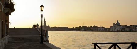 Восход солнца на La Giudecca Стоковое Изображение RF
