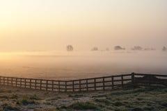 Восход солнца на Nijkerk стоковое фото rf