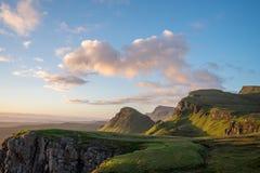 Восход солнца на Quiraing, Skye Стоковое Изображение