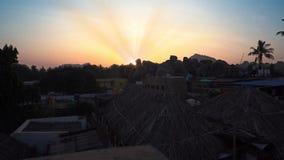 Восход солнца обозревая камни видеоматериал