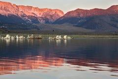 восход солнца озера кратера mono Стоковая Фотография RF