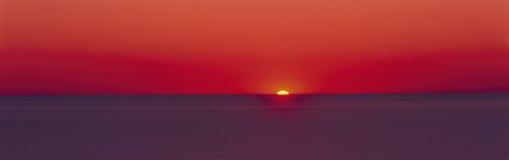 Восход солнца озера Мичигана Стоковая Фотография RF