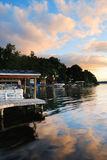 восход солнца озера Стоковая Фотография