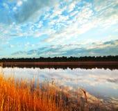 восход солнца озера Стоковая Фотография RF