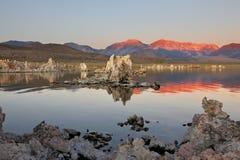 восход солнца озера mono Стоковые Изображения RF