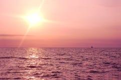восход солнца океана Стоковое Изображение