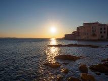 Восход солнца около St Tropez стоковое изображение rf