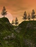 восход солнца осин Стоковые Фотографии RF