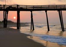 восход солнца острова hatteras стоковые фото