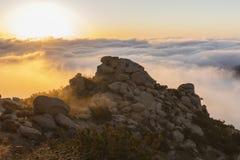 Восход солнца парка Лос-Анджелеса Калифорнии скалистый пиковый Стоковое Изображение