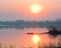 Восход солнца пасхи Стоковое фото RF