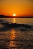 восход солнца пейзажа пляжа стоковые изображения rf