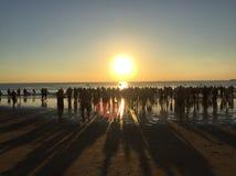 Восход солнца пловцов Стоковая Фотография RF