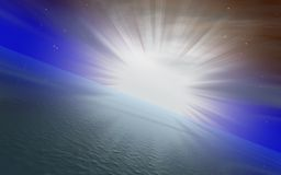 восход солнца принципиальной схемы иллюстрация вектора