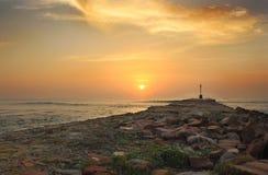 Восход солнца пристани Альфреда порта стоковые фото