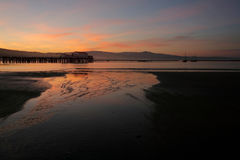 восход солнца пристани рыболовства Стоковая Фотография
