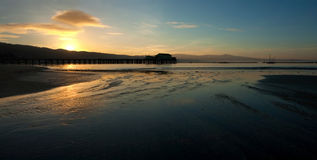 восход солнца пристани рыболовства Стоковое Фото
