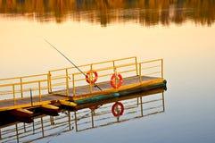 восход солнца пристани Стоковые Фотографии RF