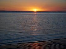 Восход солнца пункта Веллингтона с пандусом шлюпки переднего плана Стоковые Фото