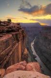 Восход солнца пункта Toroweap грандиозного каньона Стоковое Изображение