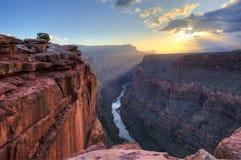 Восход солнца пункта Toroweap грандиозного каньона Стоковое фото RF