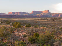 восход солнца пустыни скал Стоковое Изображение