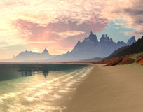 восход солнца рая залива стоковое изображение rf