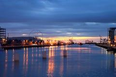 восход солнца реки liffey Стоковое фото RF