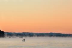 восход солнца рыболова Стоковое фото RF