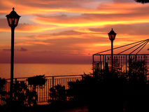 восход солнца сада s Стоковые Изображения