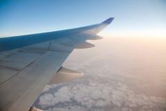 восход солнца самолета Стоковая Фотография RF