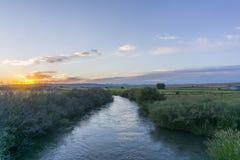 Восход солнца сельского хозяйства стоковое фото rf