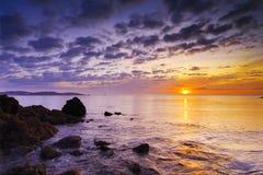 восход солнца солеварницы бухточки Стоковое фото RF
