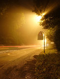 восход солнца солнечного света дороги Стоковая Фотография