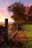 восход солнца строба фермы Стоковое Фото