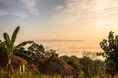 Восход солнца с взглядом кабины Стоковое Изображение