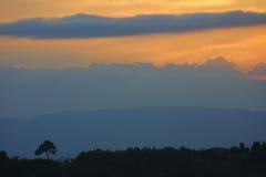 восход солнца Тоскана Италии Стоковые Изображения RF