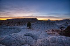 Восход солнца утра в Vermillion национальном монументе скал стоковые фото