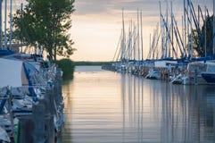 Восход солнца утра, гавань стоковое изображение rf