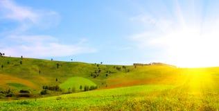 восход солнца холмов Стоковые Изображения RF
