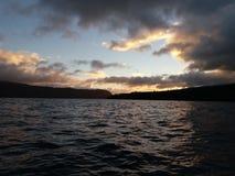 Восход солнца холодного утра в апреле стоковые изображения rf