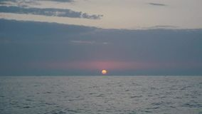 Восход солнца Чёрное море сток-видео