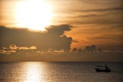 восход солнца 01 рыболова Стоковое фото RF