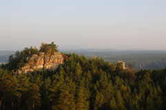 восход солнца 3 холмов Стоковые Фотографии RF