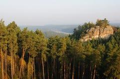 восход солнца 5 холмов Стоковые Изображения RF