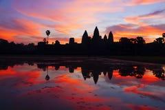 Восход солнца Angkor Wat Стоковое фото RF
